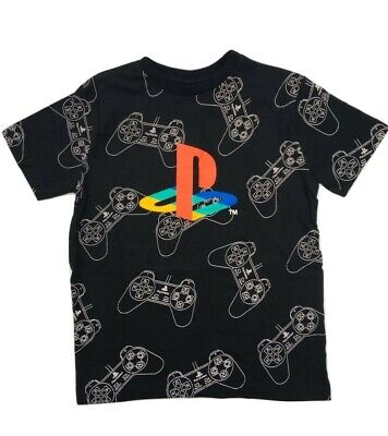 Playstation T Shirt Black Age 4- 14 Yrs. NEW Boys. Official merchandise