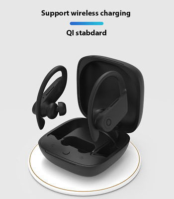 b10 Beats Style Powerbeats  In-Ear Wireless Headphones Black