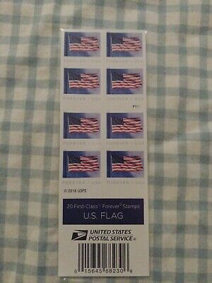 One Book Of 20 U.s. Flag 2019 Usps First Class Forever Postage Stamps - J2