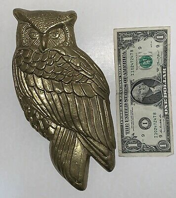 Large Brass Owl Door Knocker