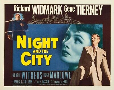 Film Noir: Night and the City (1950) Richard Widmark, Gene Tierney G.Withers