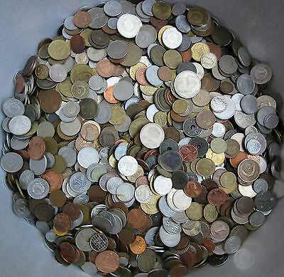 Huge Lot Of Mixed Unsearched Coins 1.0 Kg (2.2 Lbs) With Tracking
