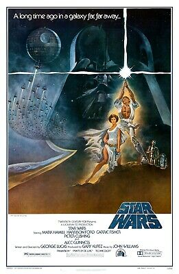 """New Art Print Of Movie Poster 1977 """"Star Wars IV A New Hope"""""""