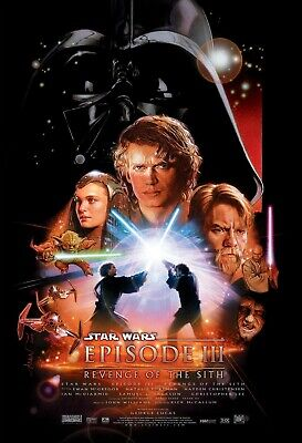 """New Art Print Of Movie Poster 2005 """"Star Wars III Revenge of the Sith"""" (3 Sizes)"""