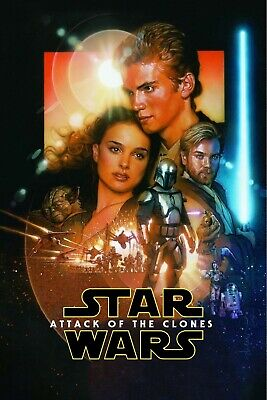 New Art Print 2002 Promo Poster for Star Wars:II-Attack of the Clones