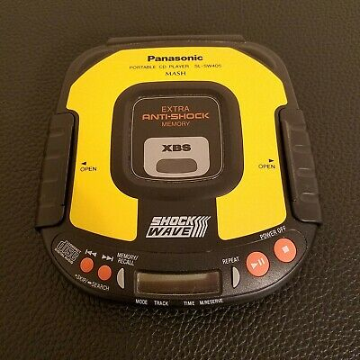 Panasonic Portable ShockWave CD Player SL-SW405 - Super Clean Tested & Working
