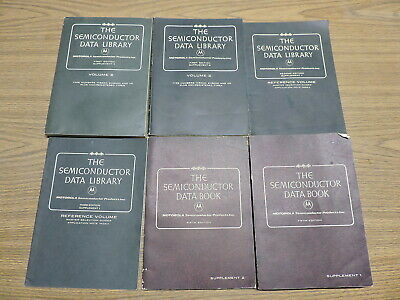Lot of 6 Motorola Semiconductor Data Library Book supplement manuals 1971,72,73