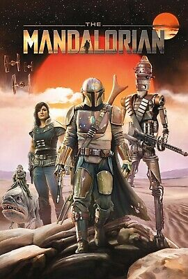 "New Art Print 2019 Promo Poster Disney's New TV Series ""The Mandalorian"""