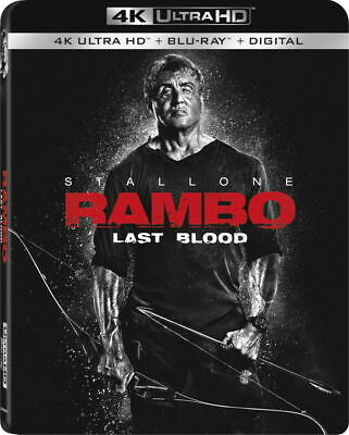 Rambo: Last Blood-4K Ultra HD-Sylvester Stallone- NO BLU RAY or Digital - 12/17
