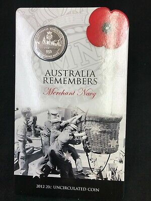2012 Australia Remembers .20c uncirculated coin - Merchant Navy