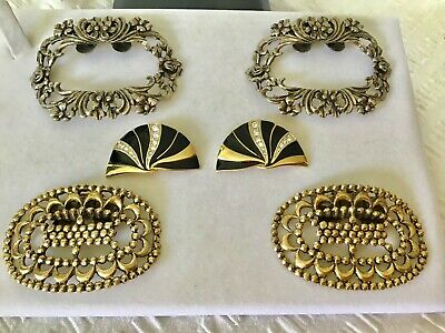 Vintage SHOE Clips Buckles MUSI MUrray SImon 3 x Pairs Filigree..Fabulous...
