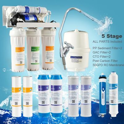 5 Stage With Pump 50G Undersink Reverse Osmosis Drinking Water Filtration System