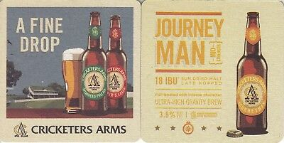 Cricketers Arms - Journey Man Mid Strength Square Coaster Beer Mat