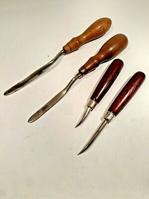 Vintage Cobbler Shoemaker Leather Burnishing Tools