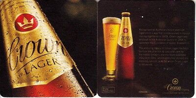 CUB - Crown Lager Square Coaster Beer Mat