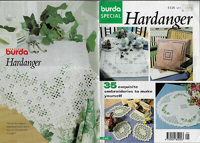 Burda Hardanger Special E452 embroidery table mat cushion tray cloth jacket