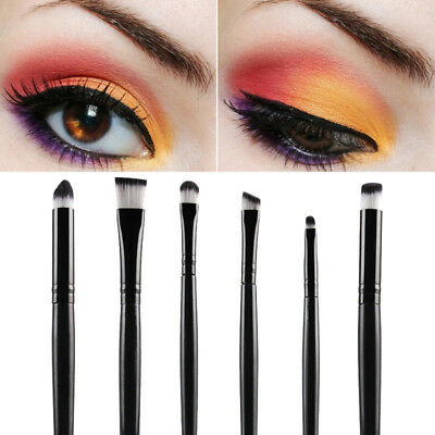 Pro 6 Pcs Eyeshadow Eyebrow Blending Brushes Set Soft Eye Makeup Brush AU