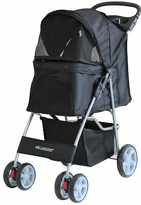 Pet Stroller Dog Cat Walk Travel Holiday Vets Transport Lightweight Black