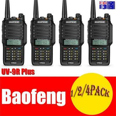 4Pcs Baofeng UV-9R Plus Walkie Talkie High Power 10km Long Range 2 Way Radio AS