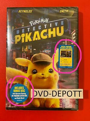 Pokemon: Detective Pikachu DVD 2 DISC *AUTHENTIC READ LISTING* New FAST Free Shp