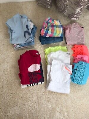 Girl's T Shirt & Shorts/Skirt Bundle Age 5-7 - 15 Items: Next, Nutmeg, Fat Face