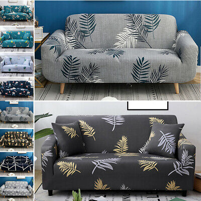 1 2 3 4 Floral Elastic Sofa Cover Slipcover Stretch Couch Furniture Protector