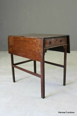 Antique Chippendale Period Mahogany Pembroke Side End Occasional Table