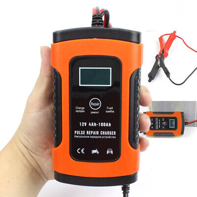 Smart Charging Battery Charger Maintainer 12V Trickle RV Car Truck Motorcycle ZE