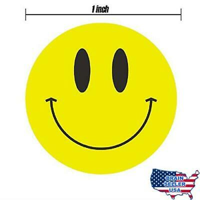 1 inch Smiley Face Stickers Roll Happy Face Stickers Circle Dots Paper Labels Re