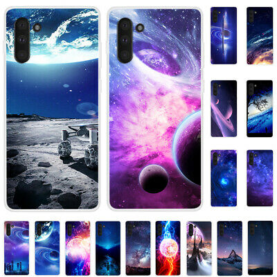 For Samsung Galaxy Note 10+ 9 8 5 4 3 Slim Painted Soft Silicone TPU Case Cover