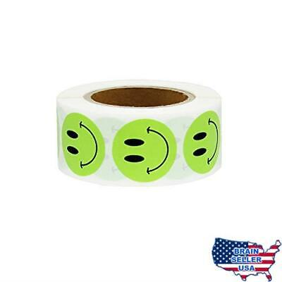 Hcode 1 inch Smiley Face Stickers Roll Happy Face Stickers Circle Dots Paper Lab