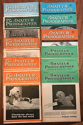 """11 x Vintage Issues """"The Amateur Photographer"""" Magazine 1944-1947 Camera Journal"""