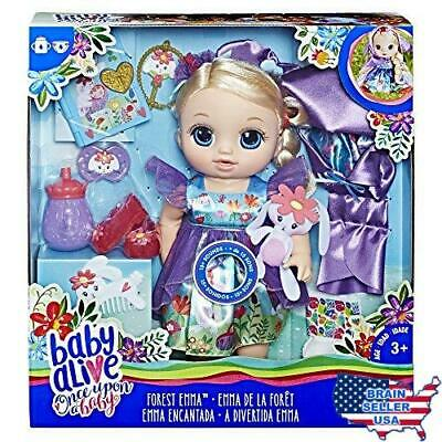 Baby Alive Once Upon a Baby: Forest Tales Forest Emma (Blonde Straight Hair),New