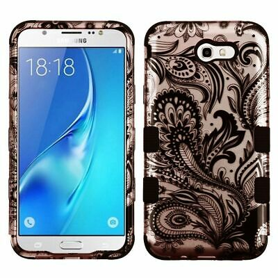 Galaxy J7 Sky Pro Phone Case with Screen protector by Insten Phoenix Flower