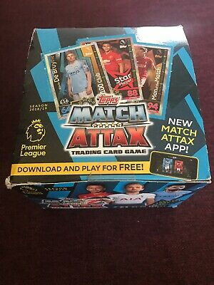 Match Attax 2018/19 Full Box of 50 Packs of Cards 350 Cards