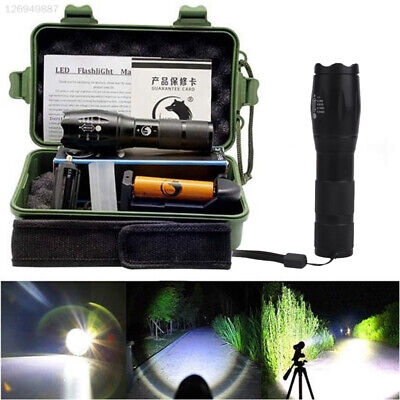 LED Tactical Flashlight CREE 5000LM XML-T6 A100 Torch Light Lamp 18650 Battery