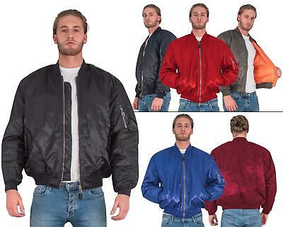 Mens MA1 Classic Bomber Military Air Force Security Doorman Harrington Jacket