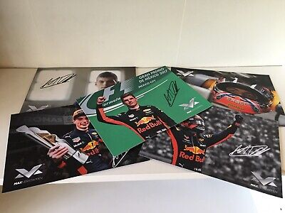 Lot 5 cards cartes driver F1 Max Verstappen Red Bull Racing