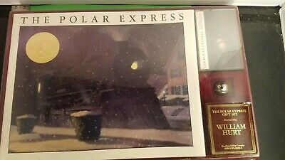 Vintage 1985 The Polar Express Collectors Box- Book, Bell, And Cassette