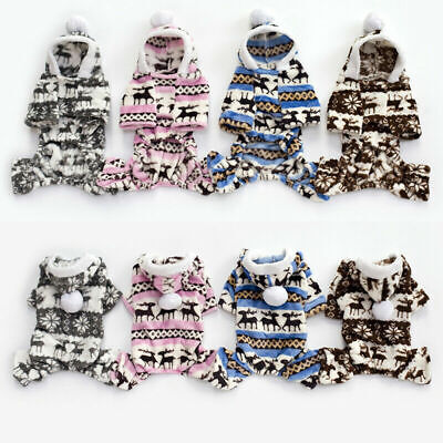 Winter Sweater Coat Puppy Dog Chihuahua Pet Jumper Warm Knitwear Clothes Fleece