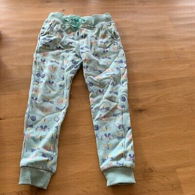 Girls M & S butterfly cotton trousers. Aged 3 - 4
