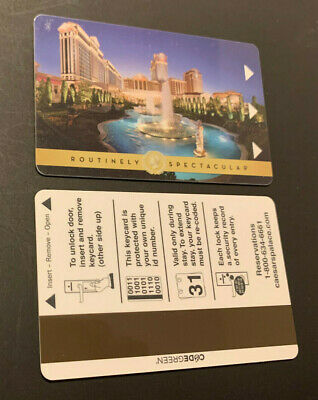 Routinely Spectacular Caesars Palace Casino Las Vegas NV Hotel Room Key Card