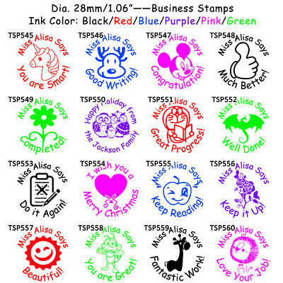 Personalized Teacher Stamper School Student Christmas Gift Homework Praise Stamp