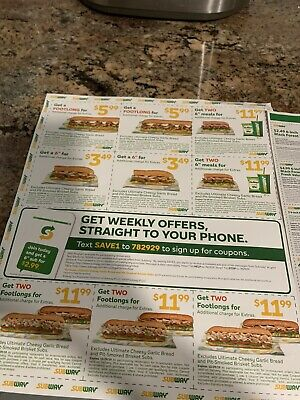 SUBWAY Coupons  Exp.12/29