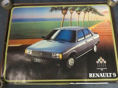 Renault 9  Car of The Year 1982   - Renault Showroom Poster