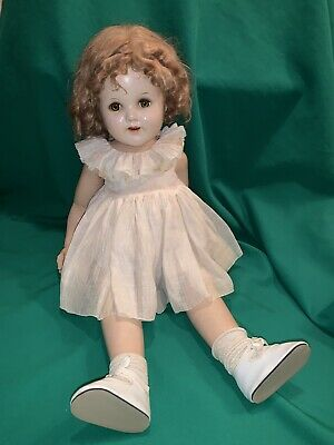 Antique Ideal Doll Full Body Bisque Vintage Sleeping Eyes Large 2ft Tall