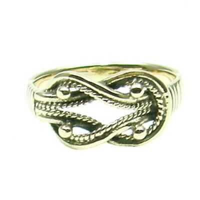 Celtic Knot Ring Bronze Symbol Folklore Jewelry - New