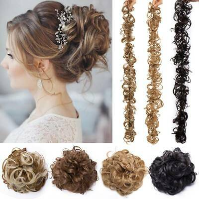 UK Large Thick Messy Bun Hair Piece Scrunchie Updo style Extension Big Chignon
