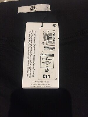 Marks and Spencer Girls Black Jeggings BRAND NEW WITH TAGS