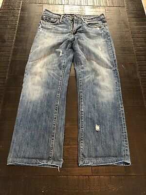 Abercrombie And Fitch Distressed Jeans Size 16 Kilburn Low Rise